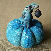 Сувениры и подарки handmade. Livemaster - original item Blue Pumpkin from fabric. Handmade.