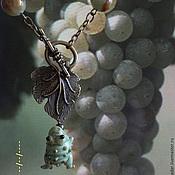 Украшения ручной работы. Ярмарка Мастеров - ручная работа Сотуар Лягушонок и виноград. Handmade.