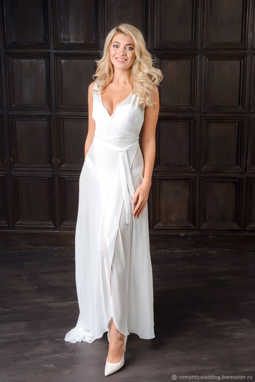 Шифоновый халат невесты в пол. Bride's morning dress, Пеньюары и белье, Москва,  Фото №1