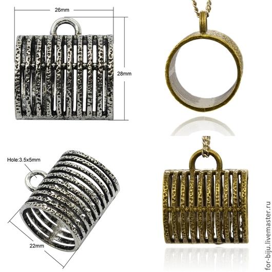 Бейл для платка-колье (шарфа-колье) , цвет  античное (темное) серебро, размер  29*25*22 мм (арт. 1438)