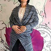 Одежда ручной работы. Ярмарка Мастеров - ручная работа кардиган трикотажный меланжевый. Handmade.