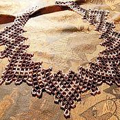 Украшения handmade. Livemaster - original item A beaded necklace Antique gold. Handmade.