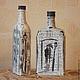 Вазы ручной работы. Заказать Бутылки декоративные. Уютный дом Ирины Берзинь (ira8713). Ярмарка Мастеров. Бутылка в подарок, роспись