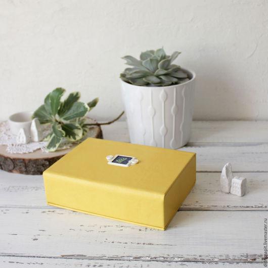 Шкатулки ручной работы. Ярмарка Мастеров - ручная работа. Купить Коробочка для мелочей. Handmade. Желтый, коробочка для мелочей, хранение
