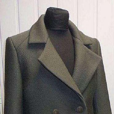Одежда ручной работы. Ярмарка Мастеров - ручная работа Короткая куртка-пиджак из пальтовой ткани. Handmade.