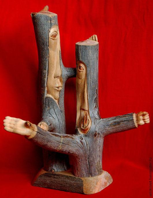 """Статуэтки ручной работы. Ярмарка Мастеров - ручная работа. Купить """"Дискуссия"""" (композиция из дерева). Handmade. Разноцветный, дискуссия, северная сосна"""