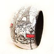 """Украшения ручной работы. Ярмарка Мастеров - ручная работа Браслет """"Париж черно-белый"""". Handmade."""