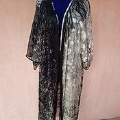 Одежда ручной работы. Ярмарка Мастеров - ручная работа Шелковый халат с бахромой Дерево. Handmade.