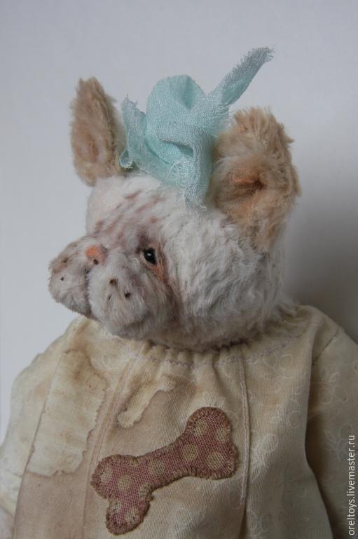 Мишки Тедди ручной работы. Ярмарка Мастеров - ручная работа. Купить Собачка. Handmade. Бледно-розовый, собака, вискоза Германия