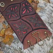 Аксессуары ручной работы. Ярмарка Мастеров - ручная работа Кожаный пояс с узором. Handmade.