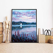 Картины и панно handmade. Livemaster - original item Landscape in mixed media