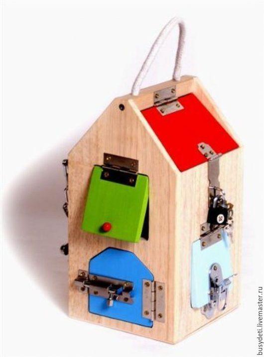 Развивающие игрушки ручной работы. Ярмарка Мастеров - ручная работа. Купить БИЗИБОРД Д- ДОМИК 8 дверок. Handmade. Комбинированный