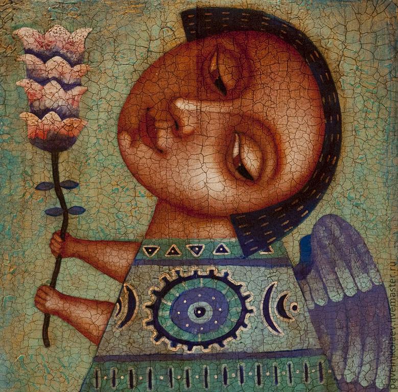 """""""Ангел с цветком 2"""", авторская печать, Картины, Новороссийск,  Фото №1"""
