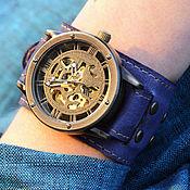 Украшения ручной работы. Ярмарка Мастеров - ручная работа Часы наручные Fiolet, наручные часы на кожаном браслете ручной работы. Handmade.