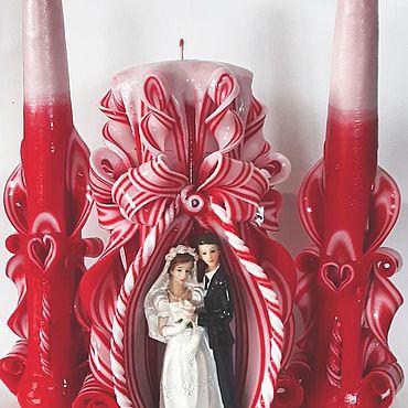 Свадебный салон ручной работы. Ярмарка Мастеров - ручная работа Свечи: свадебный набор. Handmade.