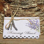 Карточки ручной работы. Ярмарка Мастеров - ручная работа Рассадочная карточка. Handmade.