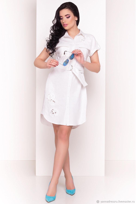 Платья ручной работы. Ярмарка Мастеров - ручная работа. Купить Платье  льняное с накладными карманами ... 6b0a65acf23