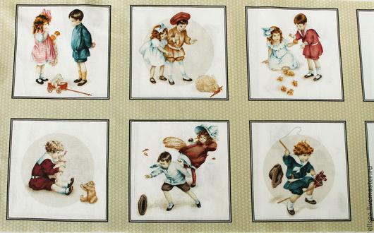 """Шитье ручной работы. Ярмарка Мастеров - ручная работа. Купить Панель  """"Винтаж. Дети"""". Handmade. Ткани, хлопок, дети"""