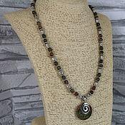 Украшения handmade. Livemaster - original item Necklace with a pendant of stones unakite. Handmade.