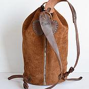 Сумки и аксессуары handmade. Livemaster - original item Suede backpak. Handecrafted. TOSCANA. Handmade.