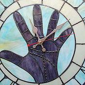 """Для дома и интерьера ручной работы. Ярмарка Мастеров - ручная работа Большие настенные часы из стекла """" Моя битва"""".. Handmade."""
