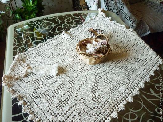 Текстиль, ковры ручной работы. Ярмарка Мастеров - ручная работа. Купить Салфетка  филейная. Handmade. Белый, салфетка крючком