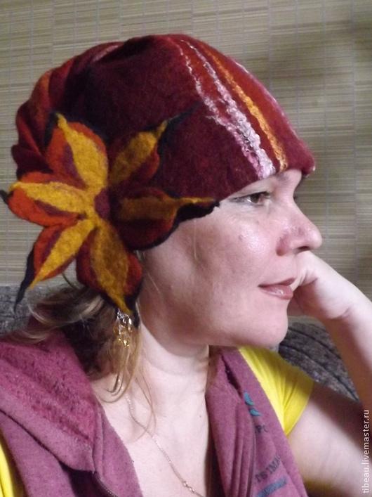 """Шапки ручной работы. Ярмарка Мастеров - ручная работа. Купить Женская шапка """"Осенняя рапсодия"""". Handmade. Рисунок, шерсть 100%"""