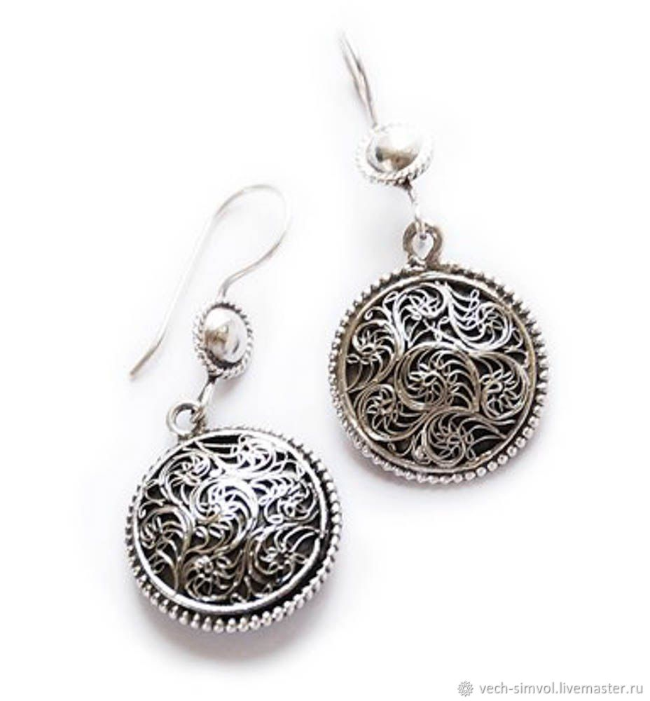 Filigree earrings, Earrings, Moscow,  Фото №1