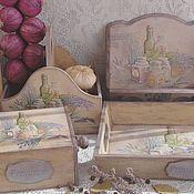 Для дома и интерьера ручной работы. Ярмарка Мастеров - ручная работа Кухонный набор Прованские  травы. Handmade.