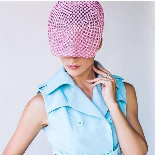"""Шляпы ручной работы. Ярмарка Мастеров - ручная работа. Купить Кепи летняя """"Фанки"""". Handmade. Летняя шляпка, плетеная шляпка"""