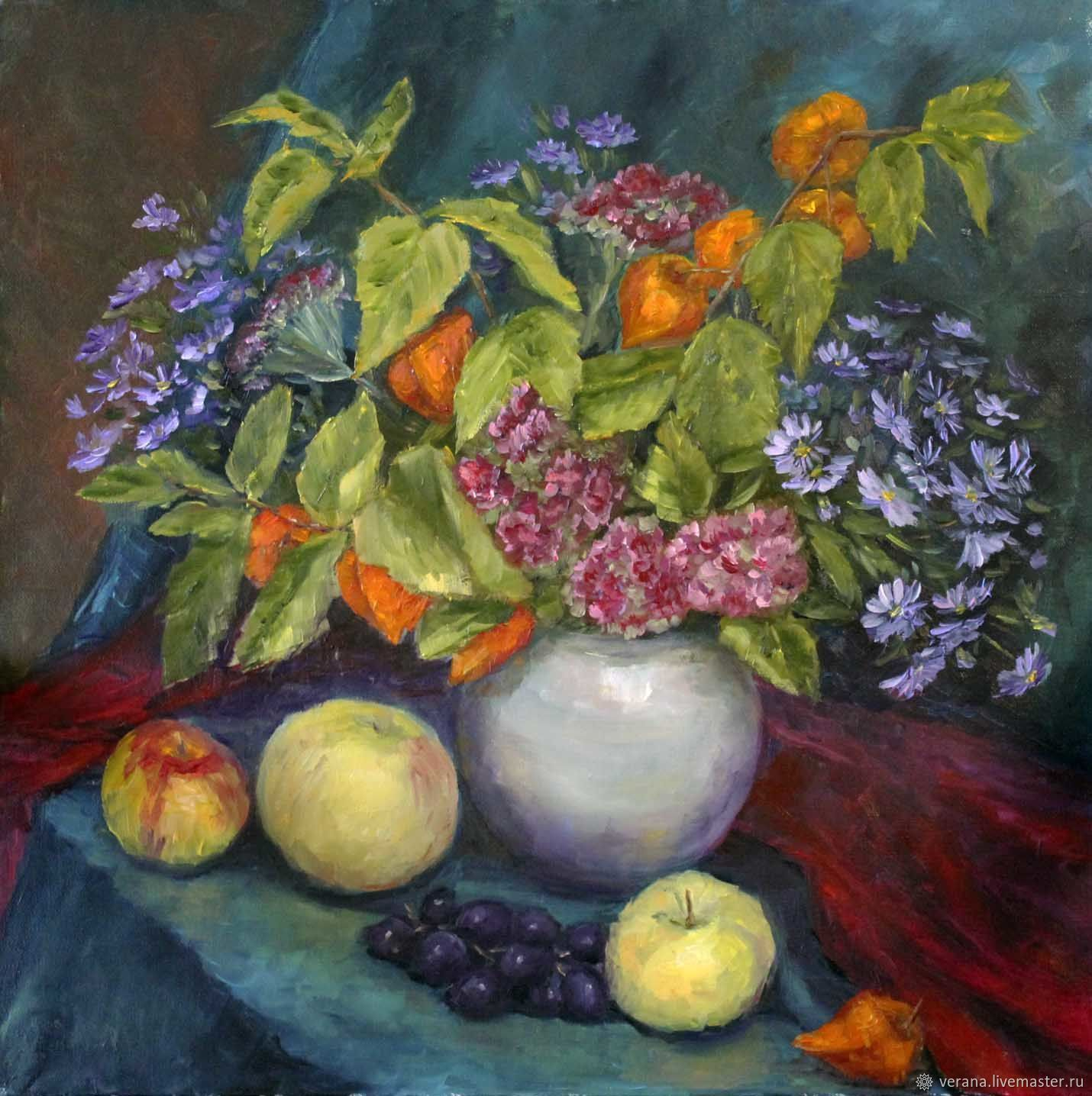 Oil Painting Autumn Flowers Still Life With Flowers Shop Online On