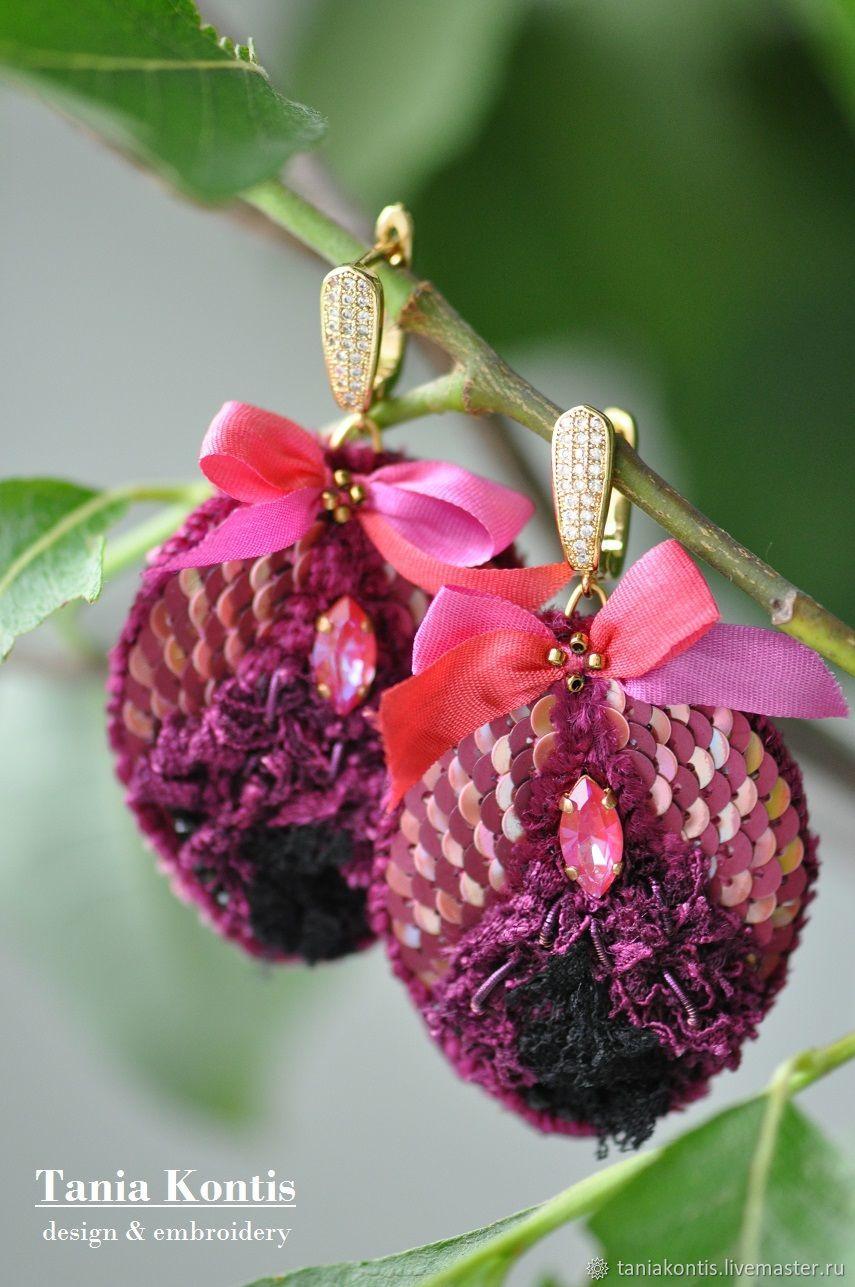 Earrings ' cherry dessert', Earrings, Tver,  Фото №1