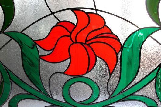 Элементы интерьера ручной работы. Ярмарка Мастеров - ручная работа. Купить Витраж. Перегородка. Handmade. Витражи, glass flowers, в окно