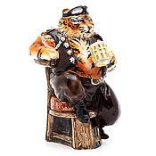 Для дома и интерьера ручной работы. Ярмарка Мастеров - ручная работа Керамическая фигура. Тигр байкер.. Handmade.