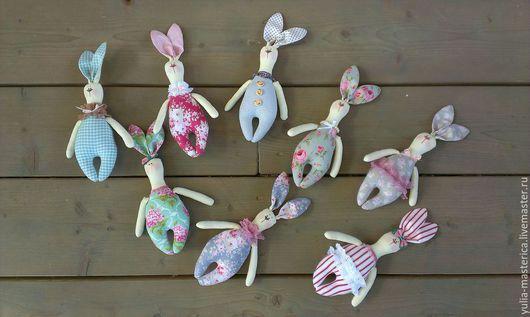 Куклы Тильды ручной работы. Ярмарка Мастеров - ручная работа. Купить ЗАЙЦЫ!!! Много зайцев!!!!. Handmade. Разноцветный, подарок