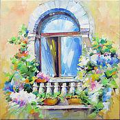"""Картины и панно ручной работы. Ярмарка Мастеров - ручная работа Картина """"Окно"""". Handmade."""