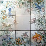 Картины и панно handmade. Livemaster - original item Ceramic panels Chinoiserie. Handmade.