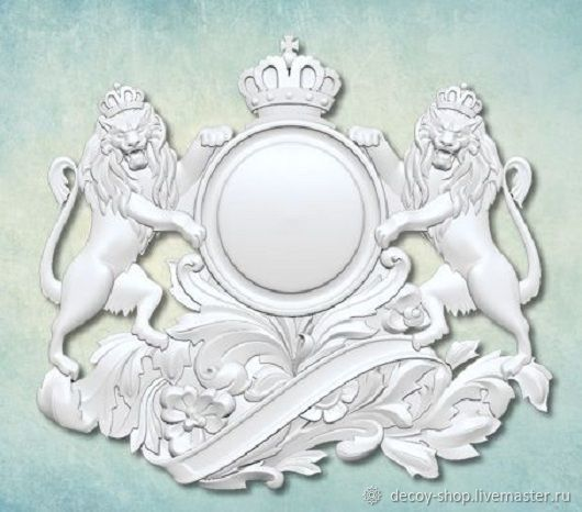 Mold 'Heraldic element of decor' ARTMD0704, Elements for decoupage and painting, Serpukhov,  Фото №1