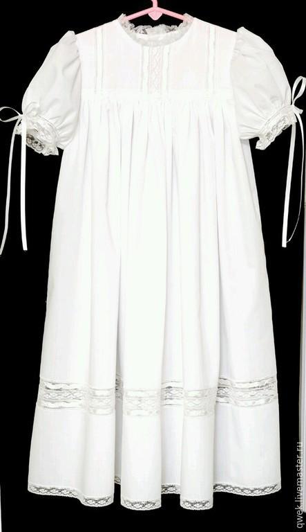 Крестильные принадлежности ручной работы. Ярмарка Мастеров - ручная работа. Купить Крестильное платье от 3 лет. Handmade. Белый, однотонный