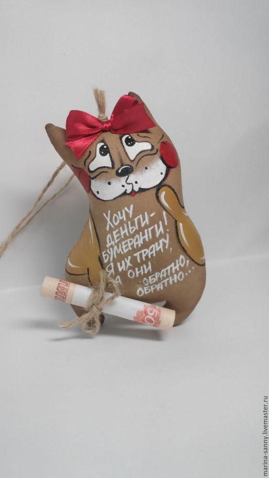 Ароматизированные куклы ручной работы. Ярмарка Мастеров - ручная работа. Купить Кофейная котя(Деньги-бумеранги). Handmade. Коричневый, купюра