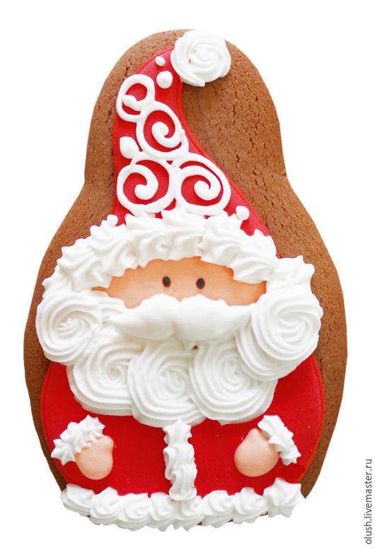 Кулинарные сувениры ручной работы. Ярмарка Мастеров - ручная работа. Купить Дед Мороз -2. Handmade. Ярко-красный