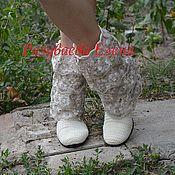 """Обувь ручной работы. Ярмарка Мастеров - ручная работа вязаные сапожки """"Снежанна"""". Handmade."""