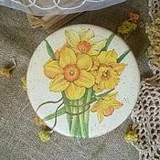 """Для дома и интерьера ручной работы. Ярмарка Мастеров - ручная работа шкатулка"""" Нарциссы"""". Handmade."""