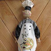 """Для дома и интерьера ручной работы. Ярмарка Мастеров - ручная работа Пакетница  """"Мастер суши """". Handmade."""