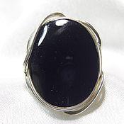 Перстень ручной работы. Ярмарка Мастеров - ручная работа Перстень из серебра с черным ониксом. Handmade.
