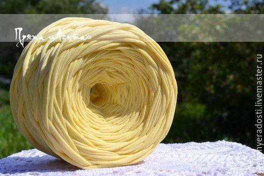 """Вязание ручной работы. Ярмарка Мастеров - ручная работа. Купить Пряжа """"Лента"""" (цвет лимон). Handmade. Лимонный, пряжа"""