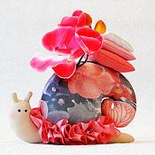 Куклы и игрушки ручной работы. Ярмарка Мастеров - ручная работа Улитка тильда Неторопливая Орхидея улиточка подарок. Handmade.