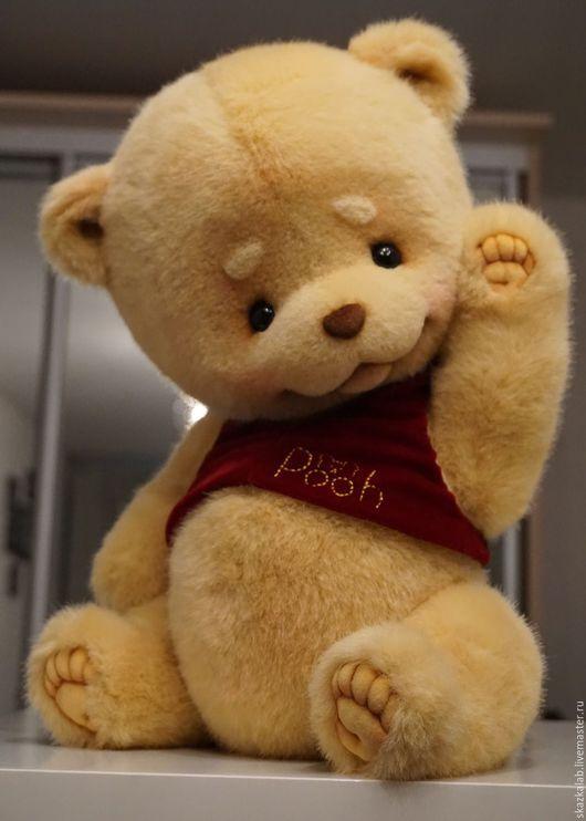 Мишки Тедди ручной работы. Ярмарка Мастеров - ручная работа. Купить Винни (40 см). Handmade. Желтый, пушистый
