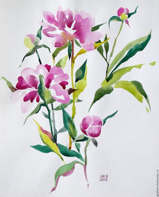 Картины цветов ручной работы. Ярмарка Мастеров - ручная работа. Купить Пион. Handmade. Цветы, цветок, цветочная композиция