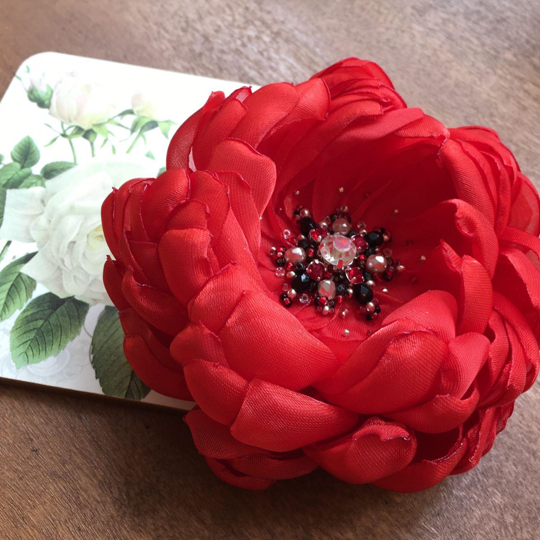 Как сделать цветок-брошь своими руками - Домашний